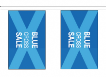 Blue Cross Sale 10m Flag Bunting